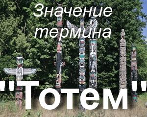 что значит Тотем?