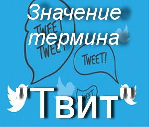 что значит Твит?